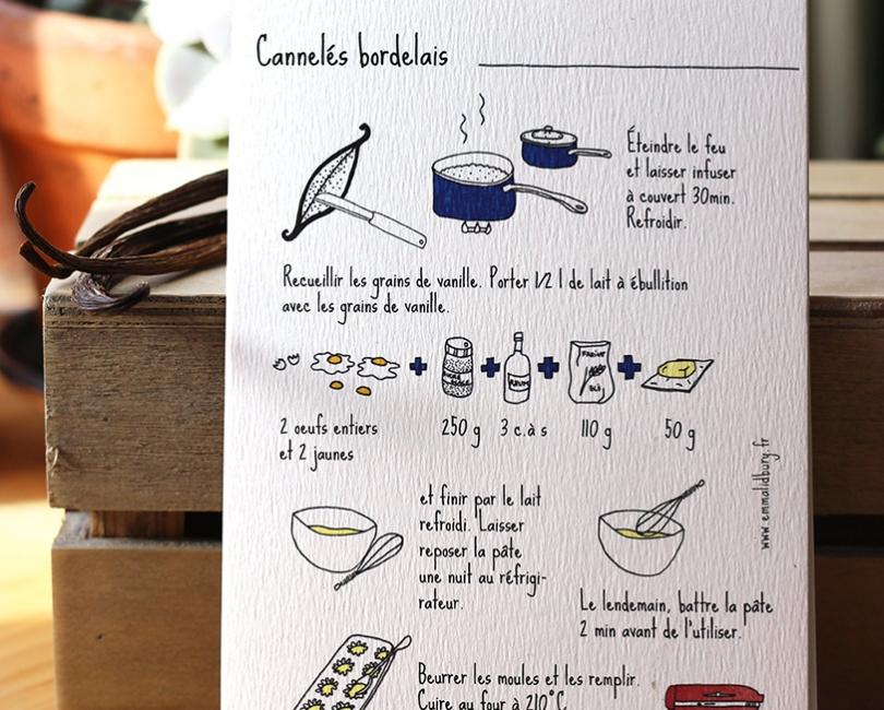 carte recette canneles lidbury