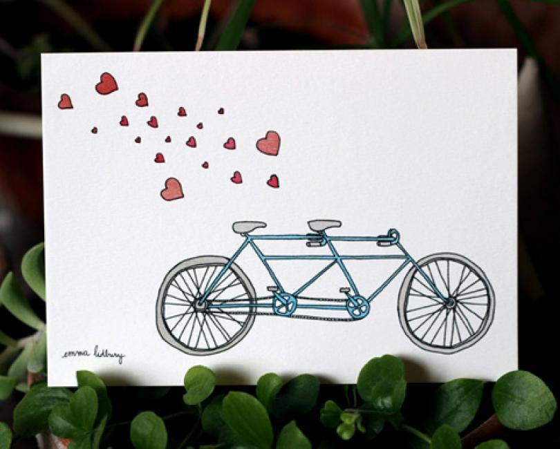 carte velo tandem amoureux lidbury