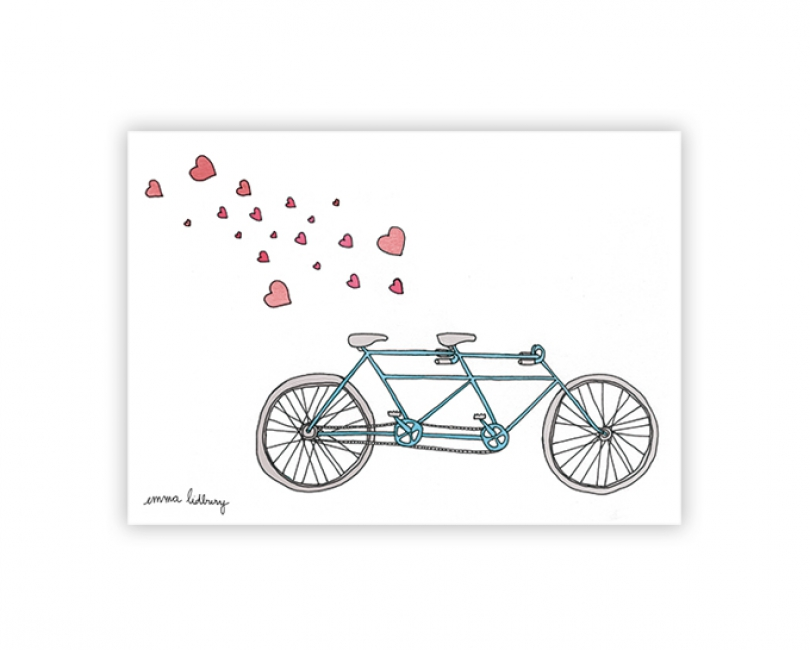 lacarteriedemma-lidbury-carte-Illustration-tandem-velo-love1