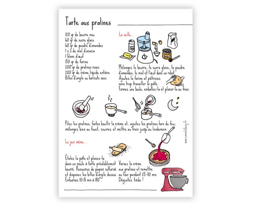 lacarteriedemma-lidbury-carte-Illustration-tarte-praline-lyon