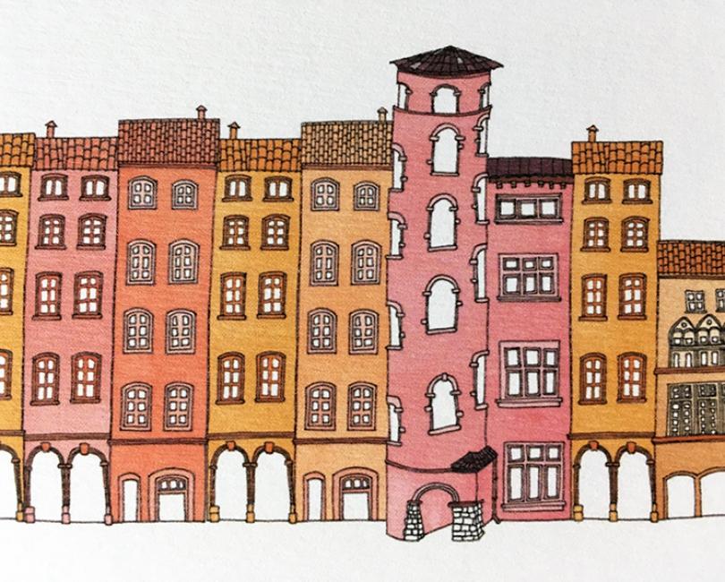 lacarteriedemma-lidbury-carte-Illustration-vieux-lyon-detail