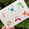 Carte d'anniversaire avec des animaux, fabriquée par Emma Lidbury
