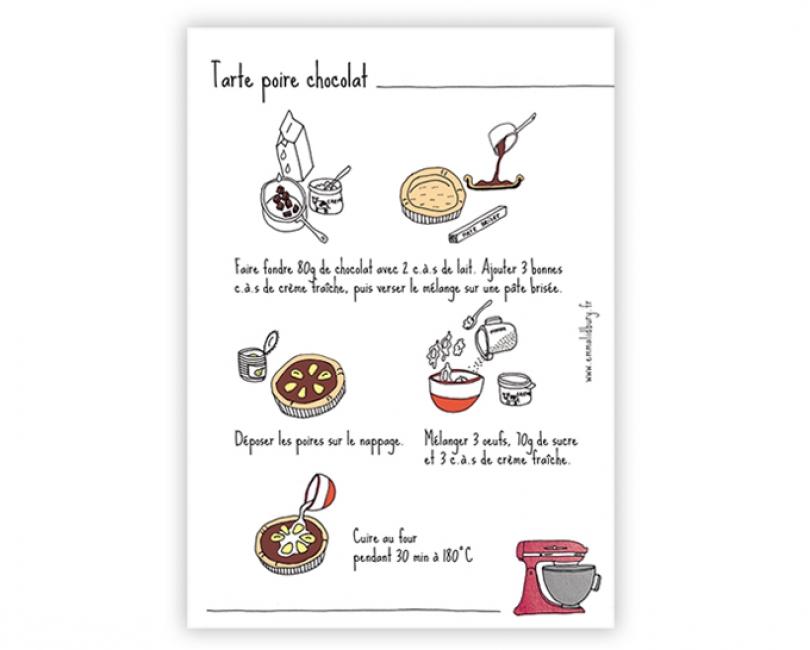 lacarteriedemma-lidbury-carte-poire-chocolat-tarte