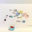 carte postale et décorative de poissons