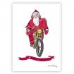 Carte père-noël à moto
