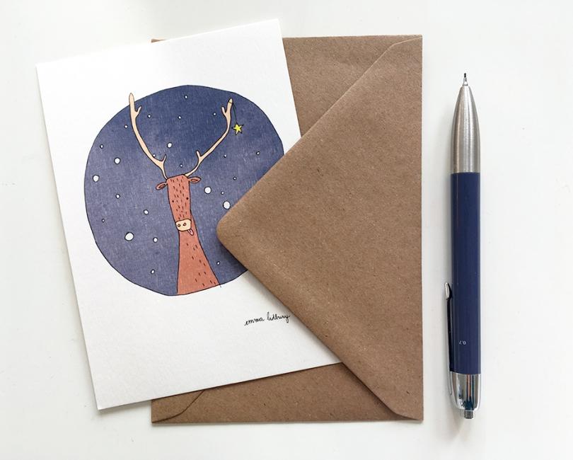 lacarteriedemma-lidbury-renne-noel-illustration-enveloppe-carte