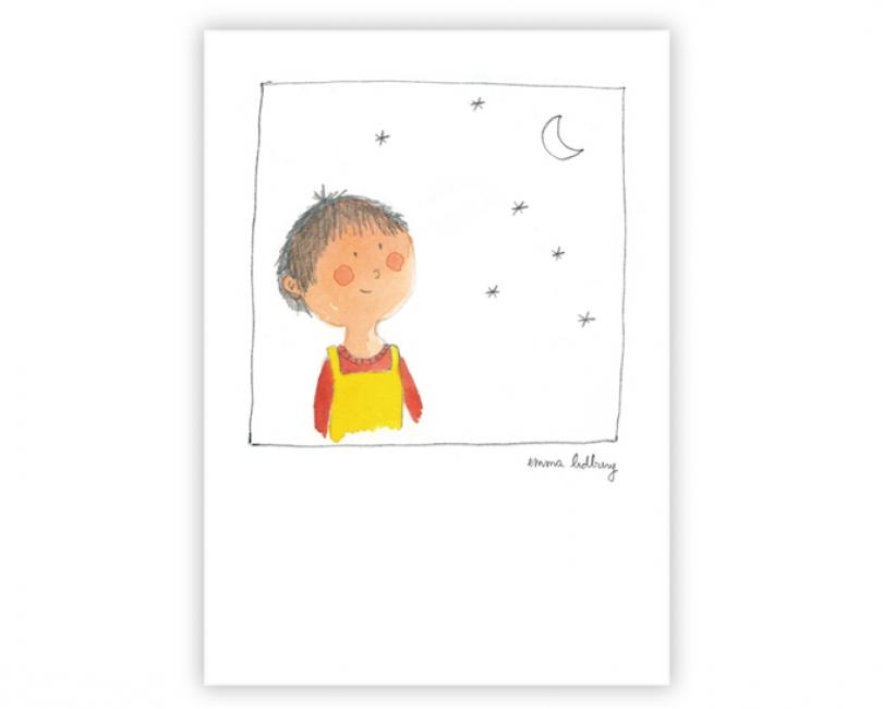 lacarteriedemma-lidbury-carte-Illustration-garcon-enfant-lune