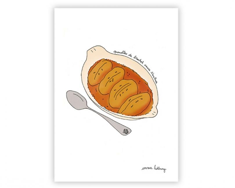 lacarteriedemma-lidbury-carte-Illustration-quenelle-brochet-specialite-lyon