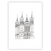 Lyon basilique notre dame de fourviere illustré sous forme de carte ou à encadrer